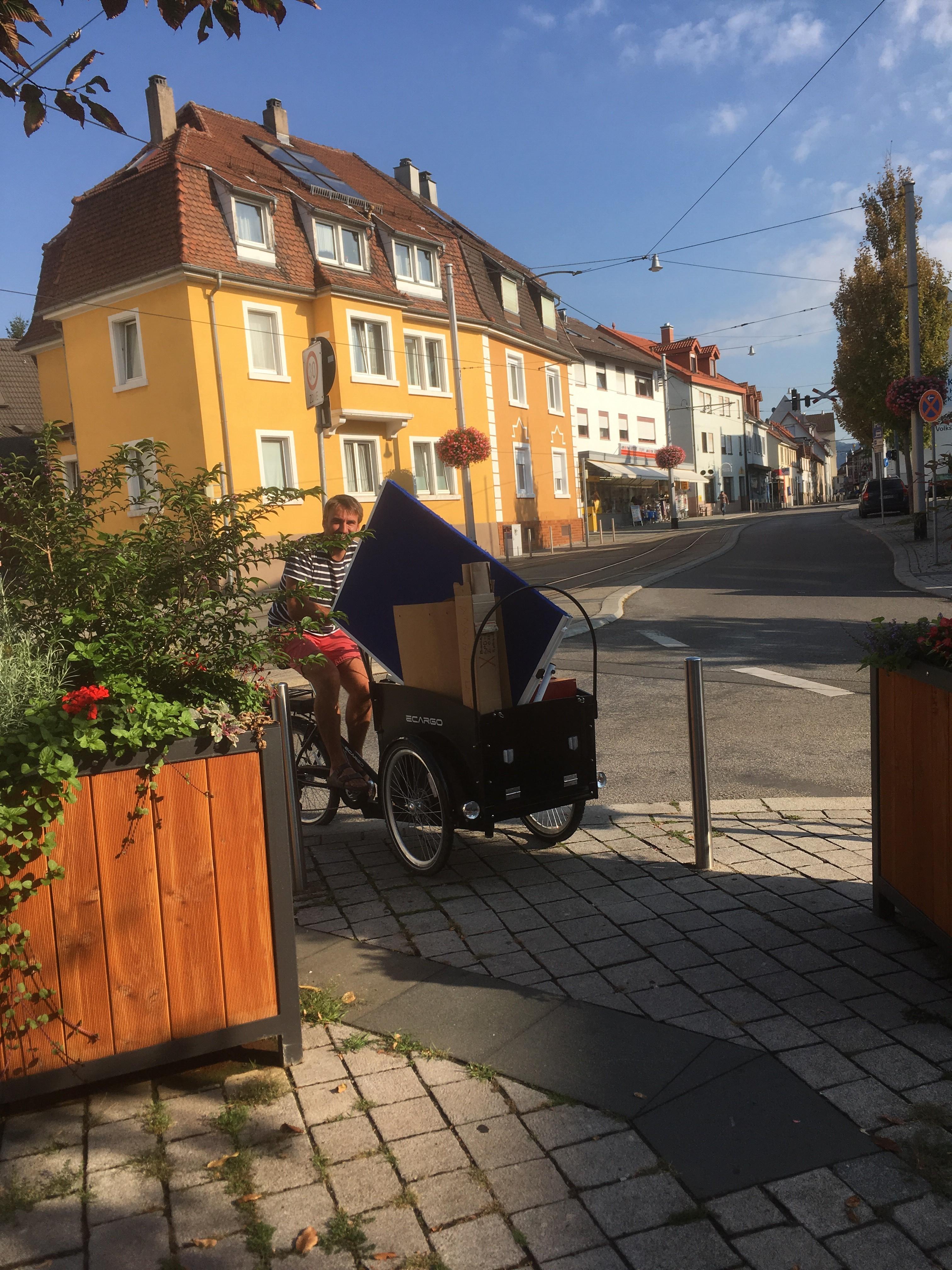 Transport zum Kirchheimer Infostand am 15.9.