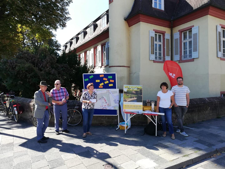 Infostand in Handschuhsheim am 8.9.