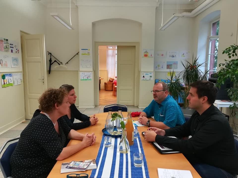 Unsere Stadträte im Gespräch mit den Vertreterinnen des Kinderschutzbundes