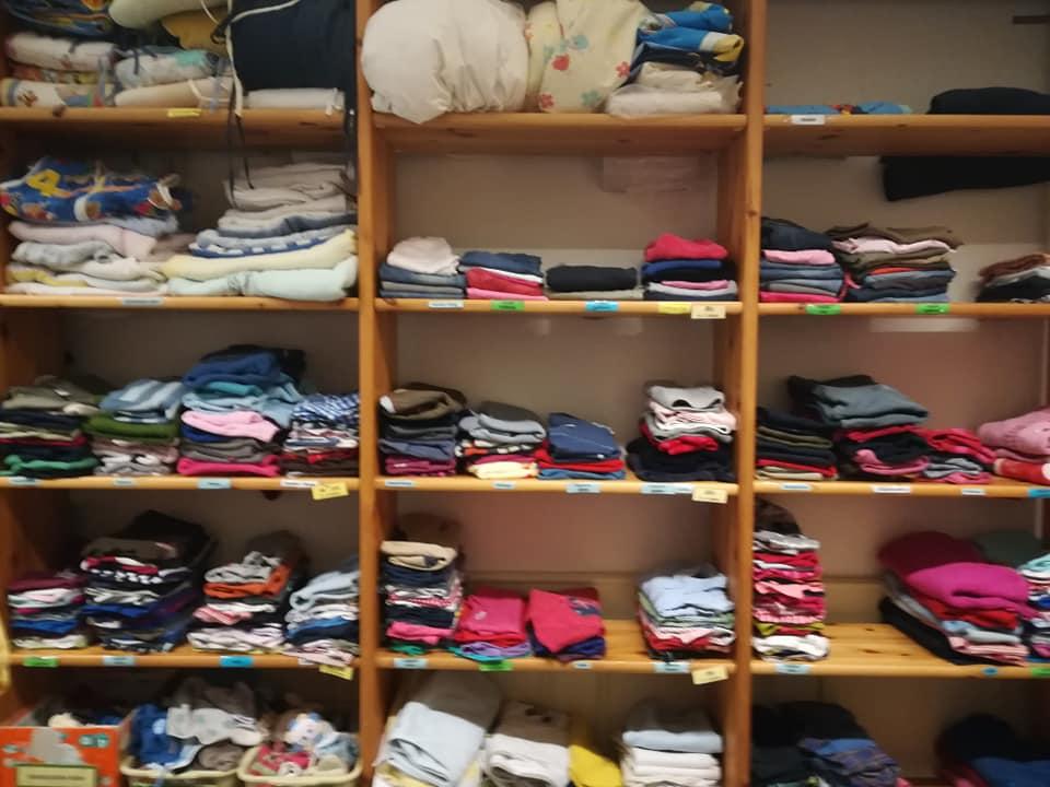 Besichtigung der Kleiderkammer
