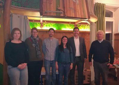 Gruppenfoto mit den Vertreter*innen der Habito sowie den Stadträt*innen Sahra Mirow (DIE LINKE), Michael Rochlitz und Andreas Grasser.