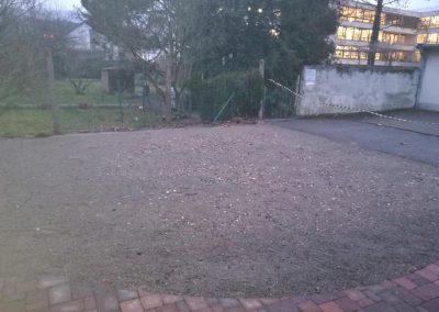 Stellplatz für die Jurte, die gerade im Garten der Julius-Springer-Schule steht.