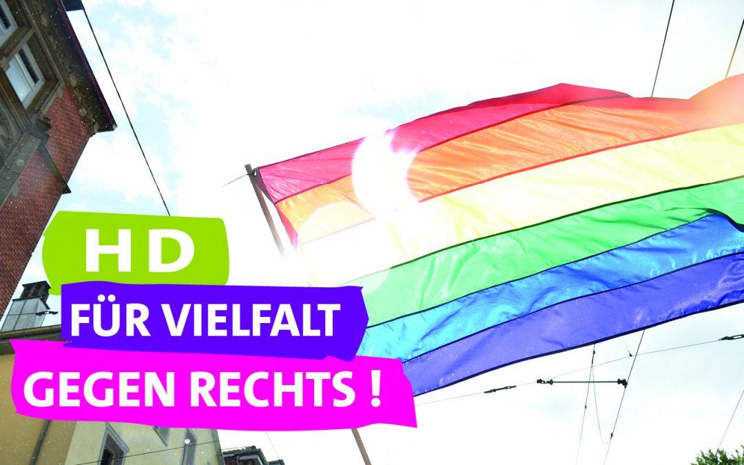 Heidelberg steht für Vielfalt und gegen Rechts
